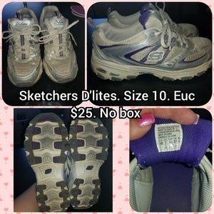 Skechers d'lites size 10